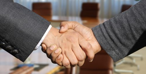 business handshake DTE Business Advisers